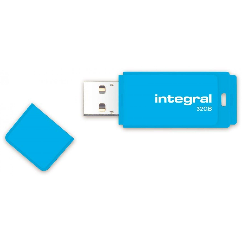 INTEGRAL Clé USB 2.0 INTEGRAL Flash Drive Néon 32 GB (Bleu)