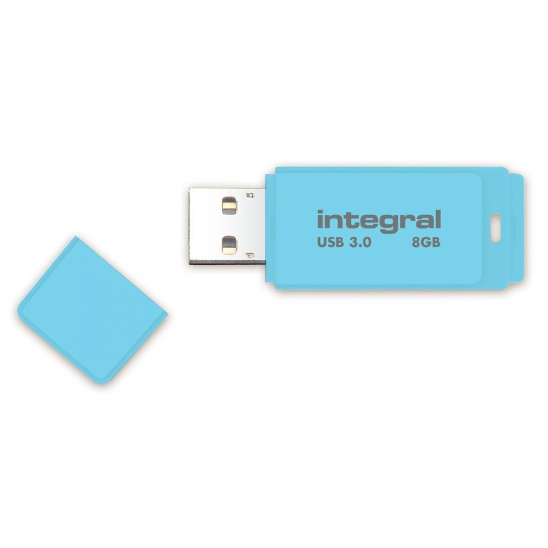 INTEGRAL Clé USB 3.0 INTEGRAL Flash Drive Pastel 8 GB (Bleu)