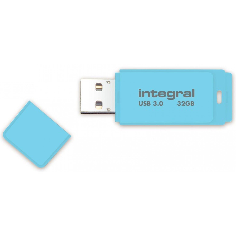 INTEGRAL Clé USB 3.0 INTEGRAL Flash Drive Pastel 32 GB (Bleu)