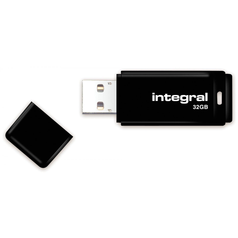 INTEGRAL Clé USB 2.0 INTEGRAL Flash Drive Black 32 GB (Noir)