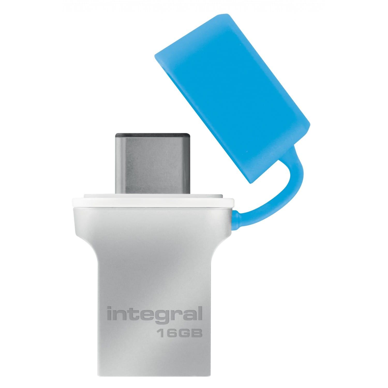 INTEGRAL Clé USB 3.0 INTEGRAL Flash Drive Fusion 16 GB (Métal Bleu)