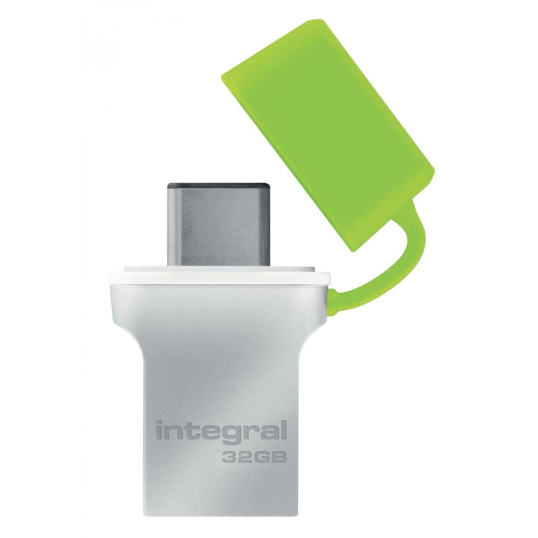 INTEGRAL Clé USB 3.0 INTEGRAL Flash Drive Fusion 32 GB (Métal Vert)