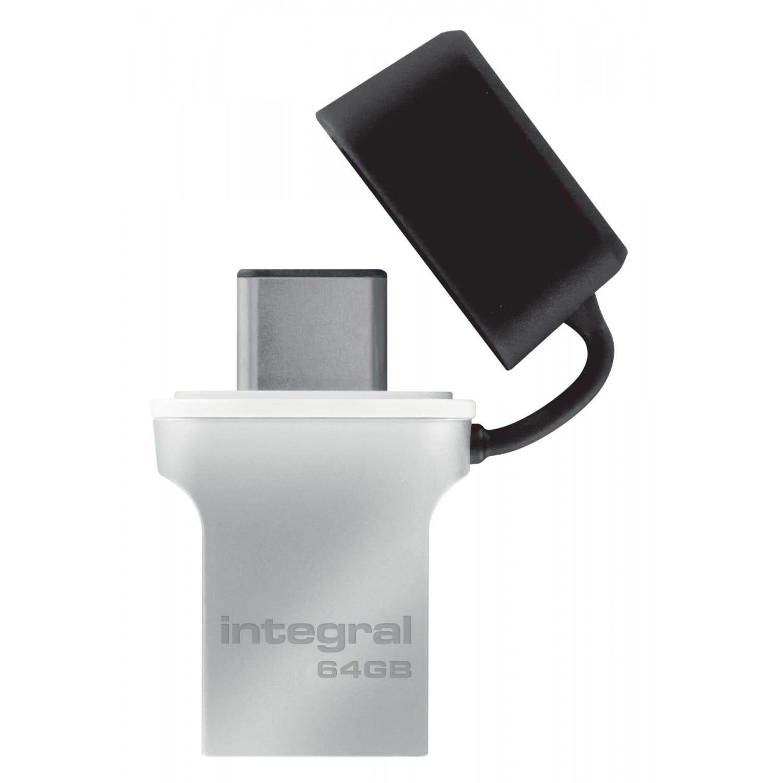 INTEGRAL Clé USB 3.0 INTEGRAL Flash Drive Fusion 64 GB (Métal Noir)