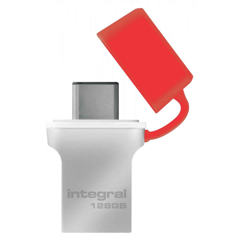 INTEGRAL Clé USB 3.0 INTEGRAL Flash Drive Fusion 128 GB (Métal Rouge)