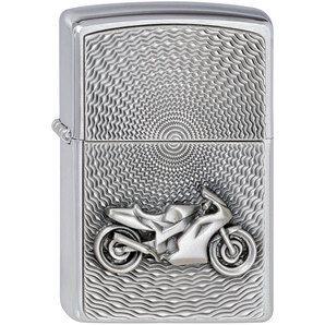 Zippo moto original chromé brossé