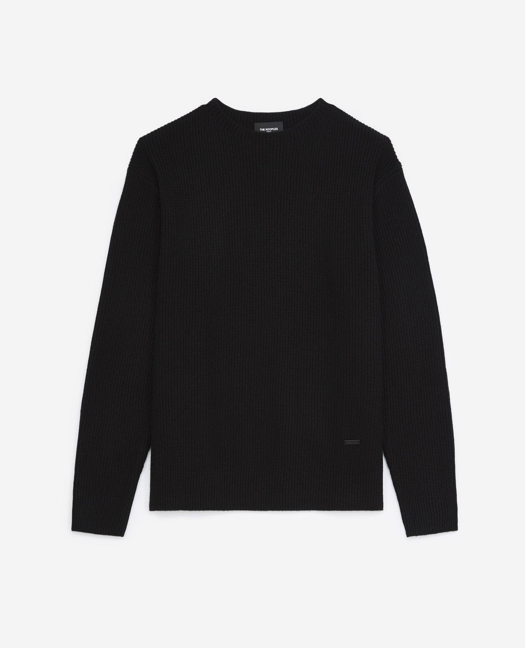 The Kooples - Pull maille noir à col montant - HOMME M