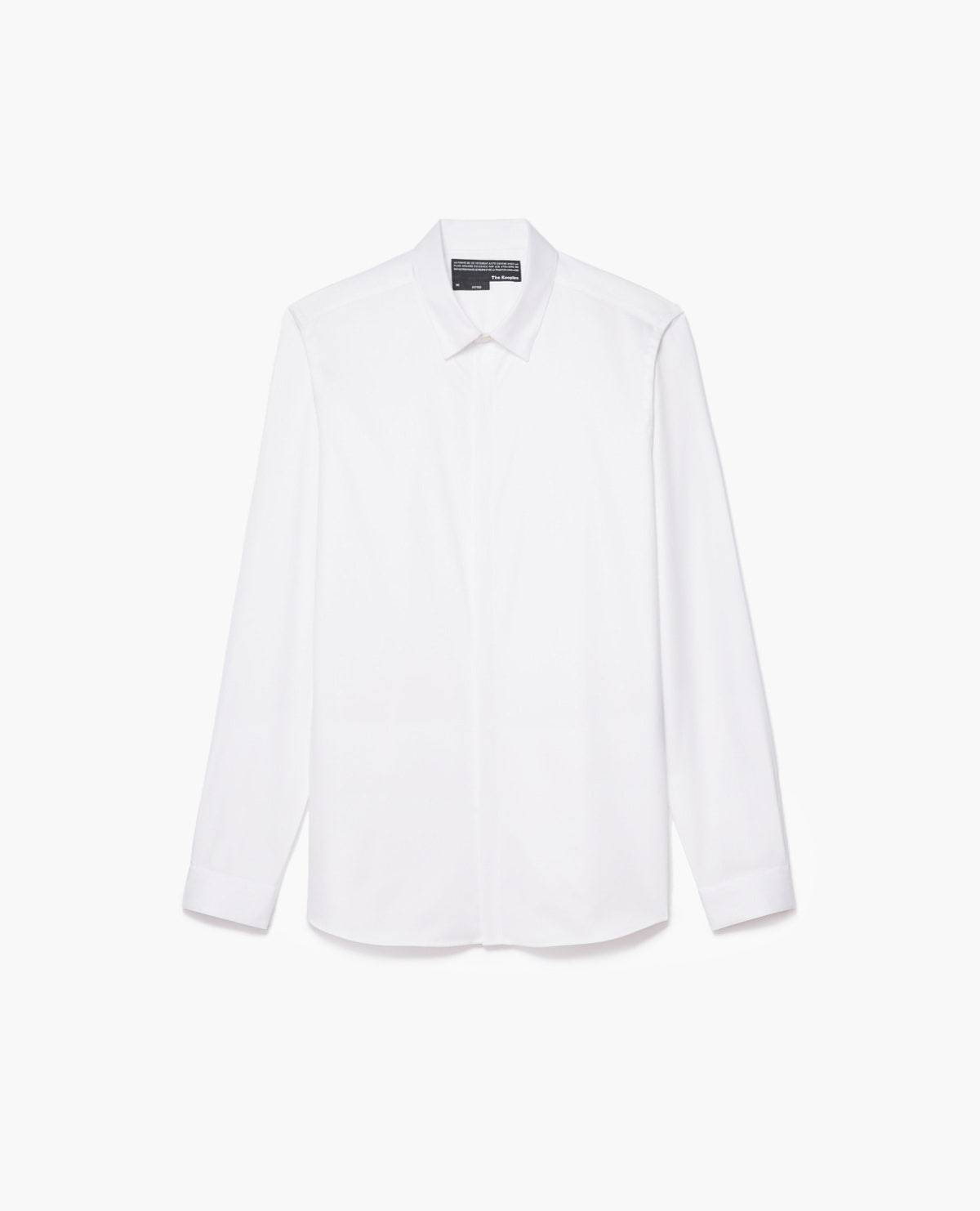 The Kooples - Plain cotton twill shirt - HOMME S