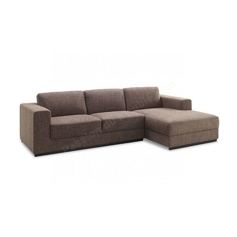 CRDIS Canapé d'angle, 3 places, angle à droite, Gamme Korosten