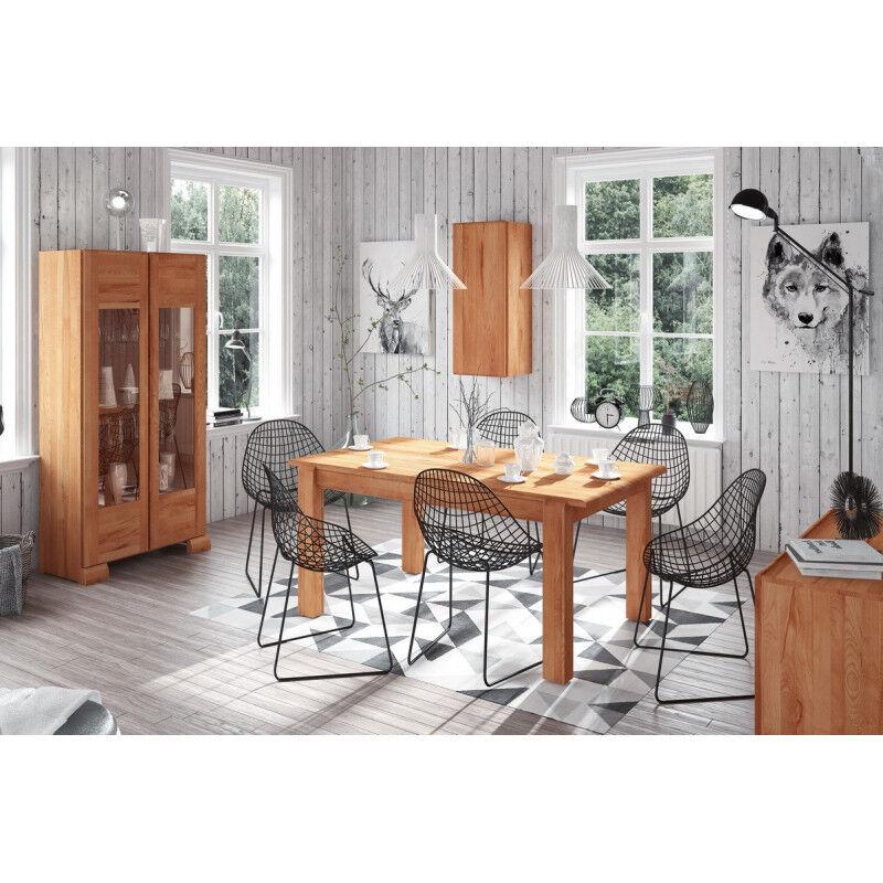 CRDIS Table à diner en chêne et à rallonge, Gamme Livourne 135 x 90 cm / 4 personnes