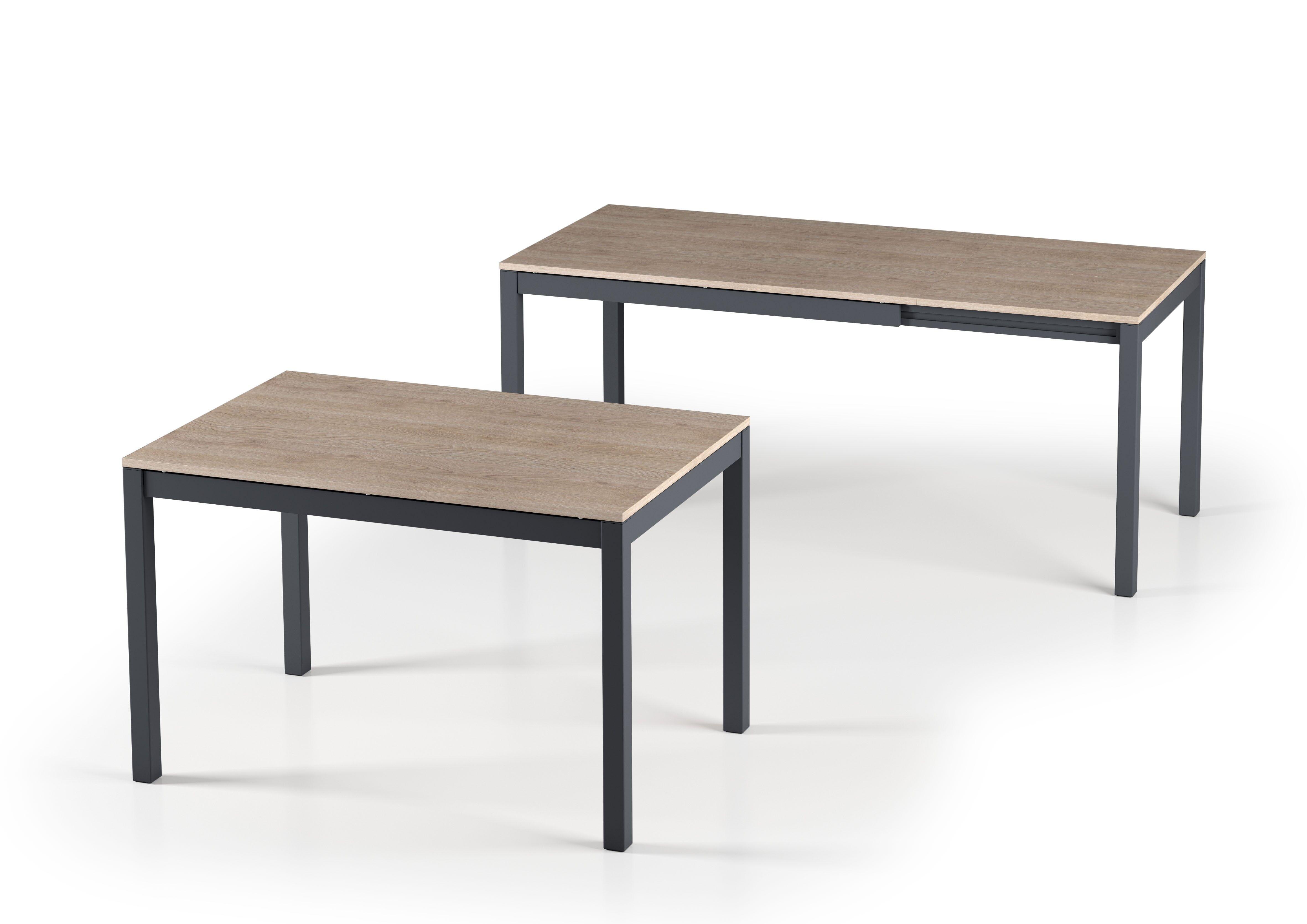 CAESAROO Table 121x81 cm extensible Chêne clair    Chêne clair
