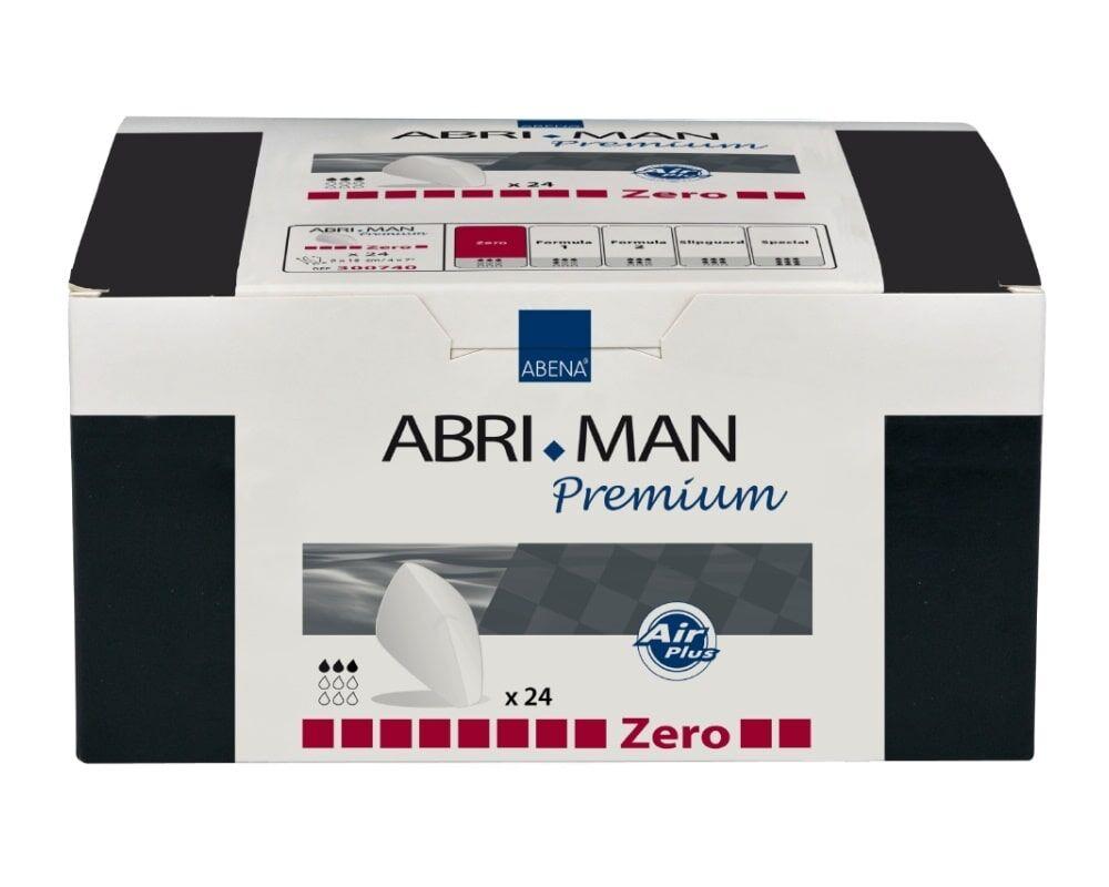Abena Abri-Man Premium Zero - Protections anatomiques pour hommes - 24 pièces - Coquilles