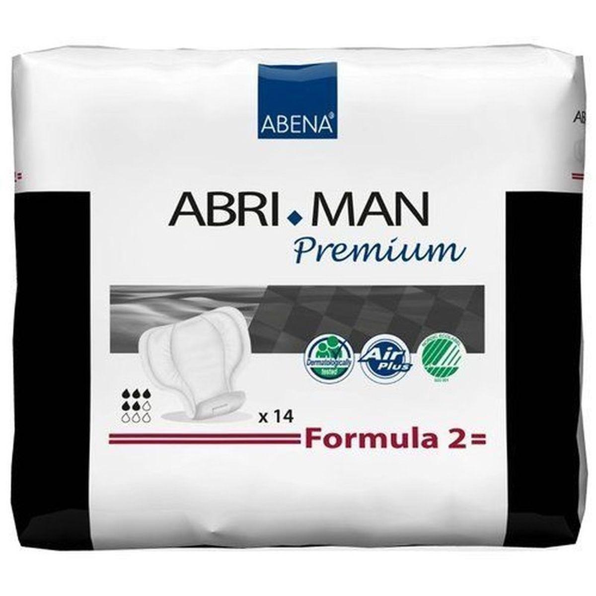 Abena Abri-Man Premium Formula 2 - Protections anatomiques pour hommes - 14 pièces - Coquilles
