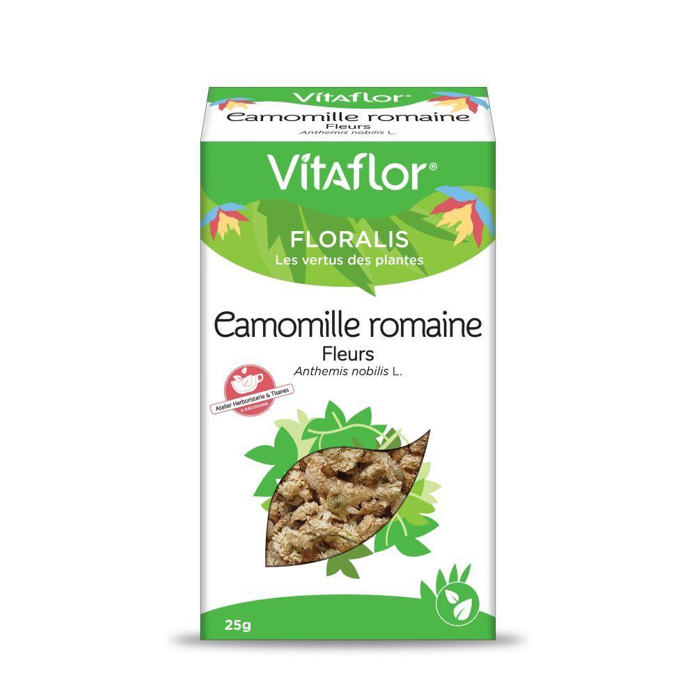 Vitaflor Camomille romaine -  Boite de 25gr - Plante en vrac (fleurs) - Vitaflor