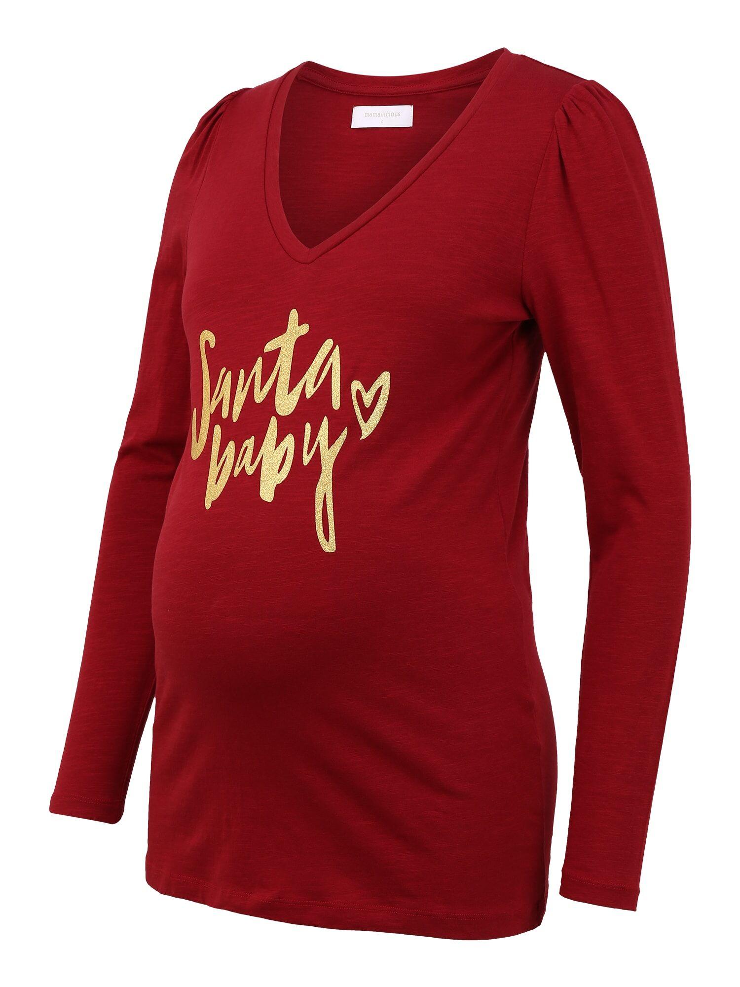 MAMALICIOUS T-shirt 'GLORIA'  - Rouge - Taille: M - female
