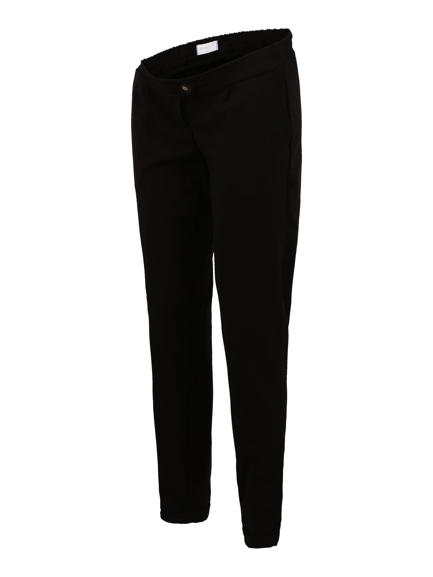 MAMALICIOUS Pantalon à plis  - Noir - Taille: M - female