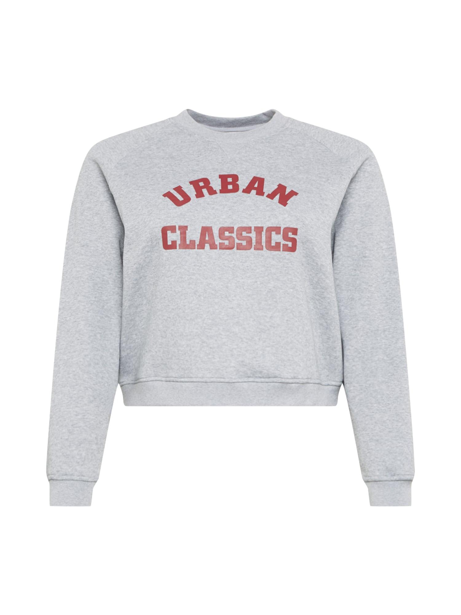 Urban Classics Curvy Sweat-shirt  - Gris - Taille: 4XL - female