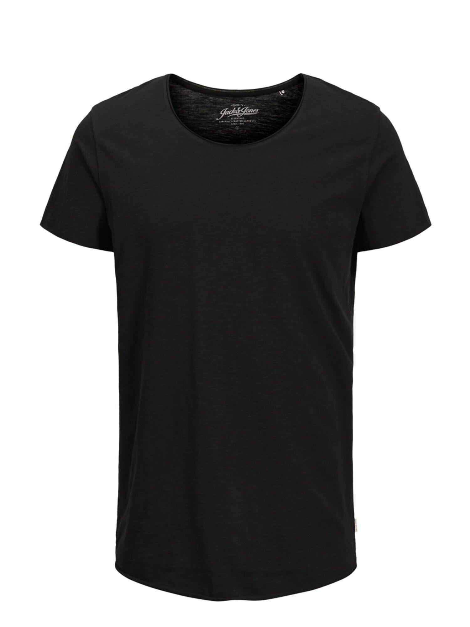 JACK & JONES T-Shirt 'JJEBAS TEE SS U-NECK NOOS'  - Noir - Taille: M - male