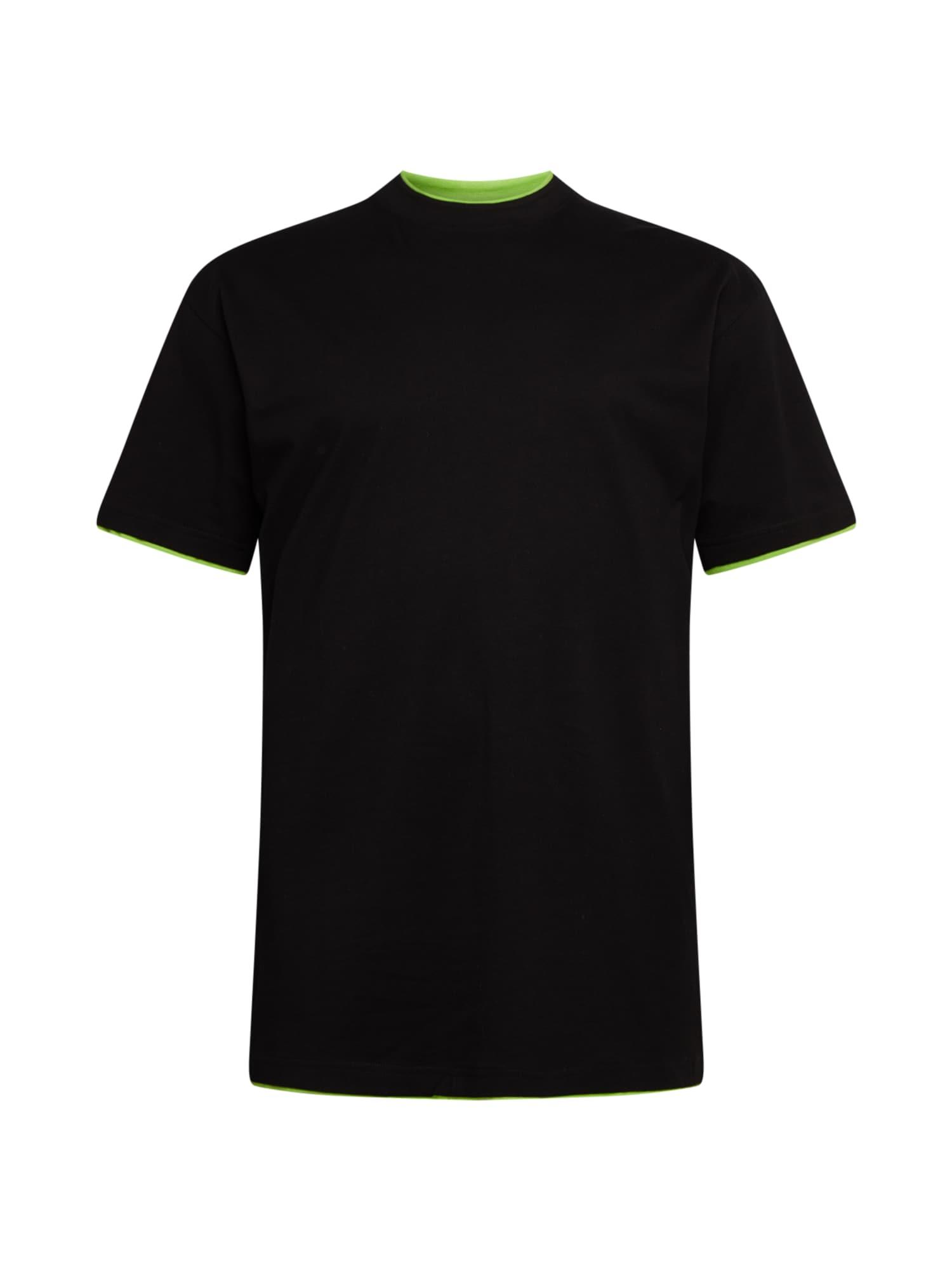 Urban Classics Big & Tall T-Shirt 'Contrast'  - Noir - Taille: XXXL - male