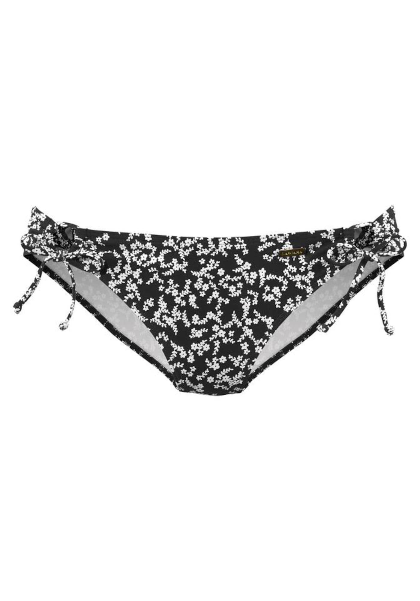 LASCANA Bas de bikini 'Meadow'  - Noir - Taille: 34 - female