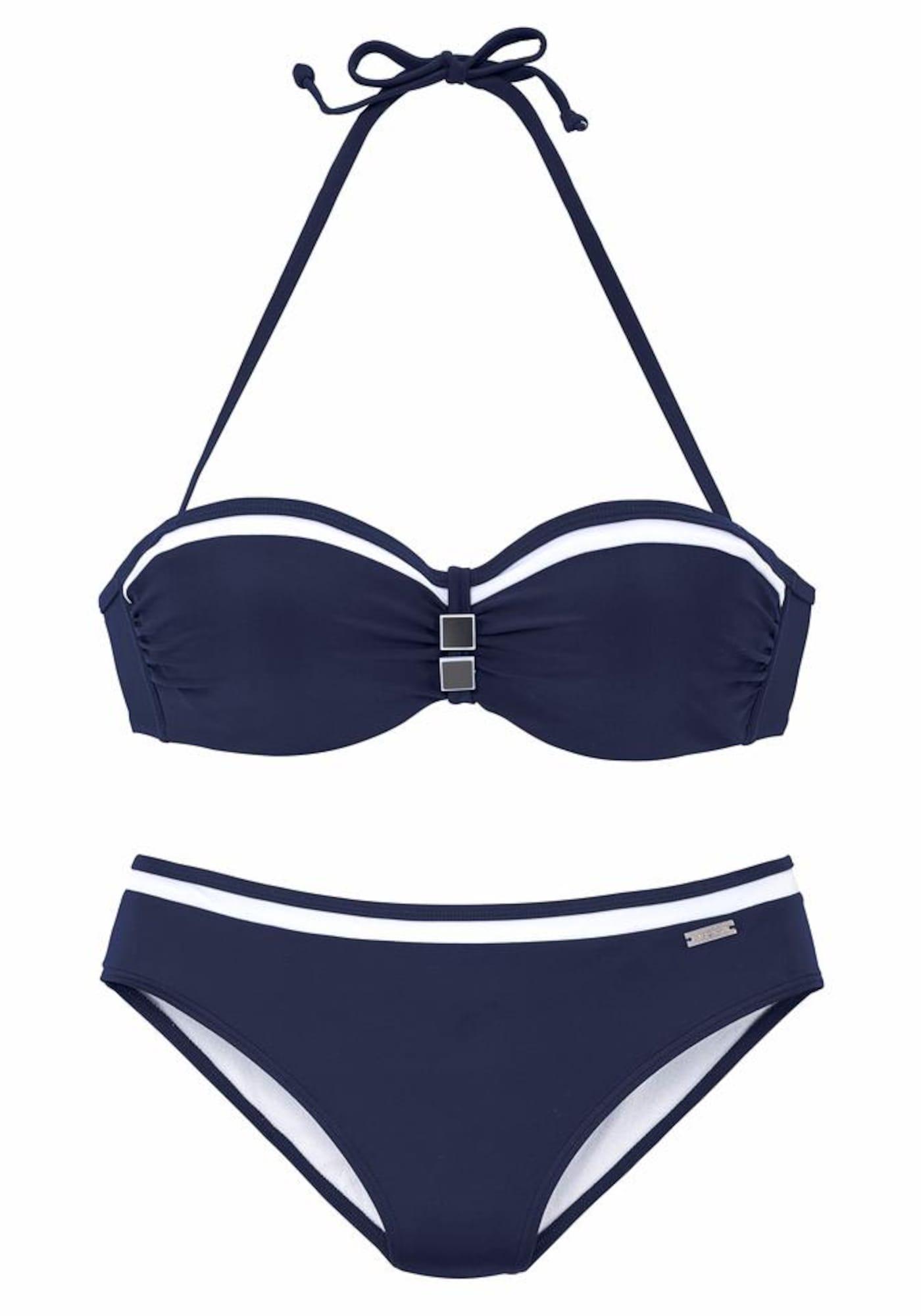 LASCANA Bikini 'Wire-Band-Bik LC Yacht'  - Bleu - Taille: 34 - female