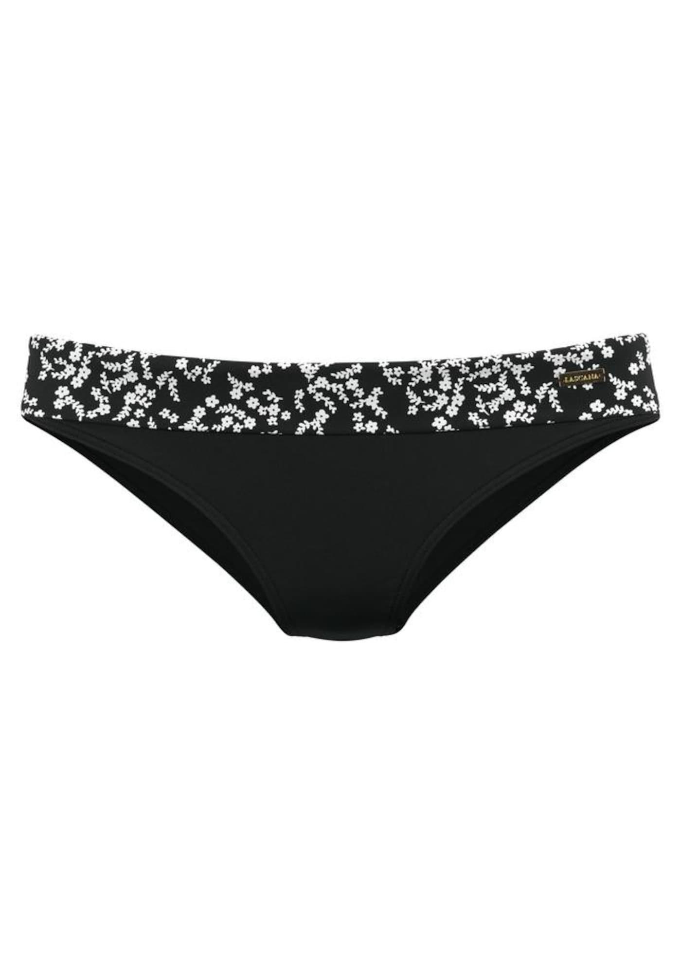 LASCANA Bas de bikini 'Meadow'  - Noir - Taille: 42 - female