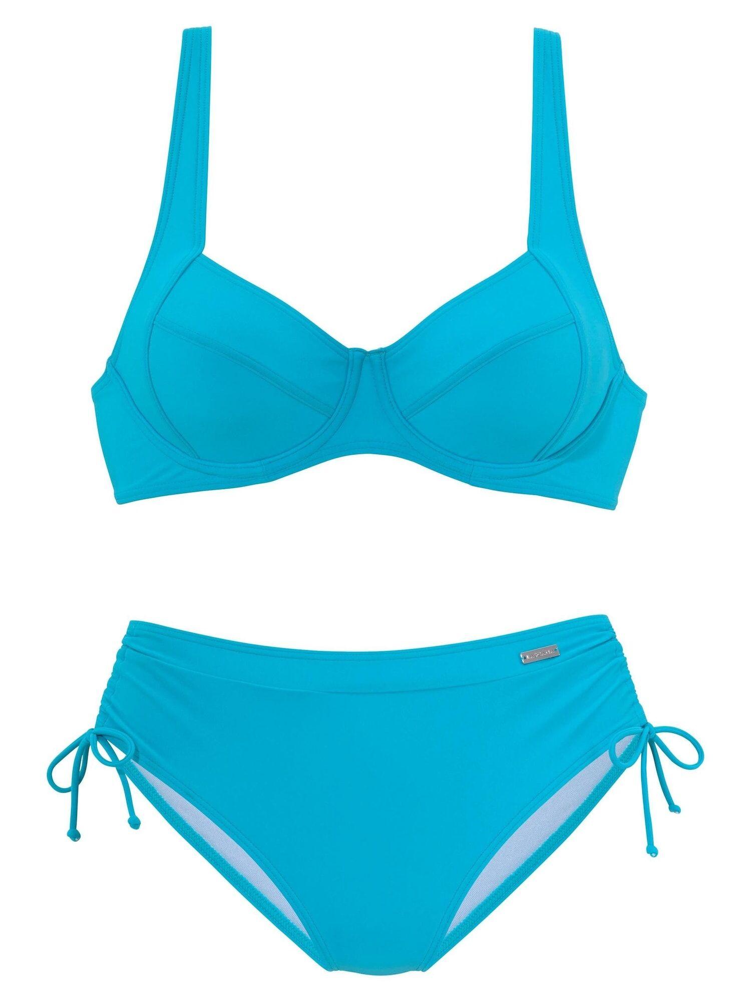 LASCANA Bikini  - Bleu - Taille: 38 - female