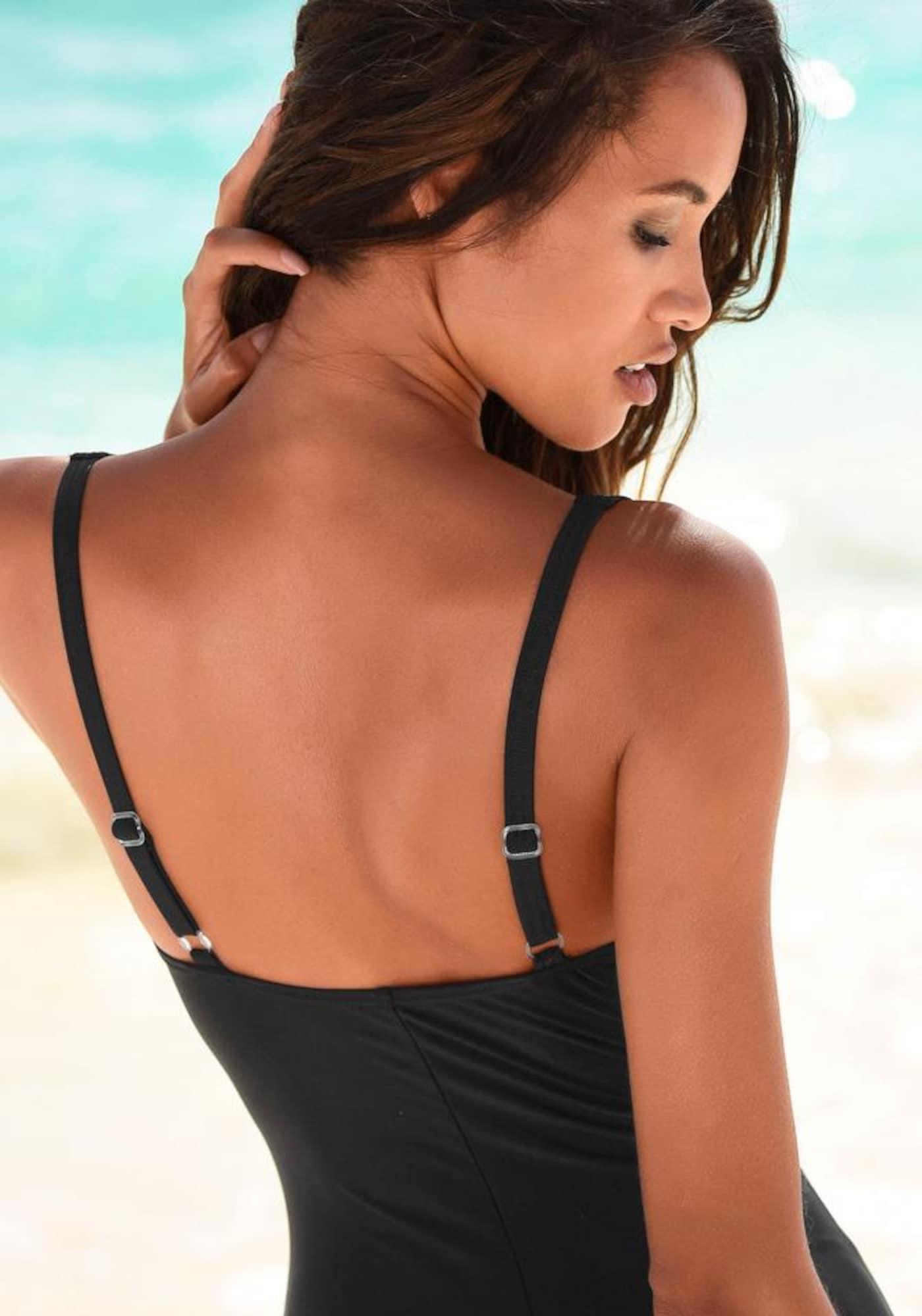 LASCANA Maillot de bain modelant  - Noir - Taille: 46 - female
