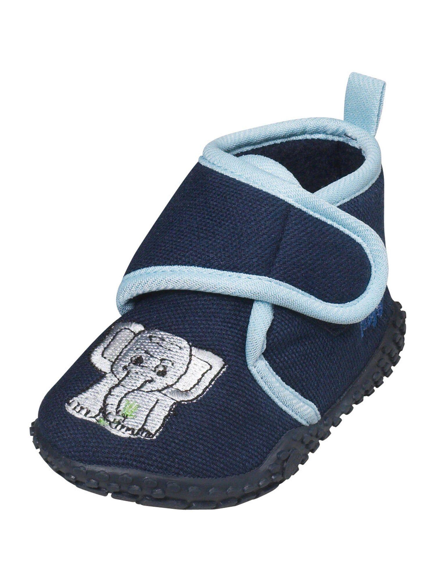 PLAYSHOES Pantoufle 'Elefant'  - Bleu - Taille: 30.5 - boy
