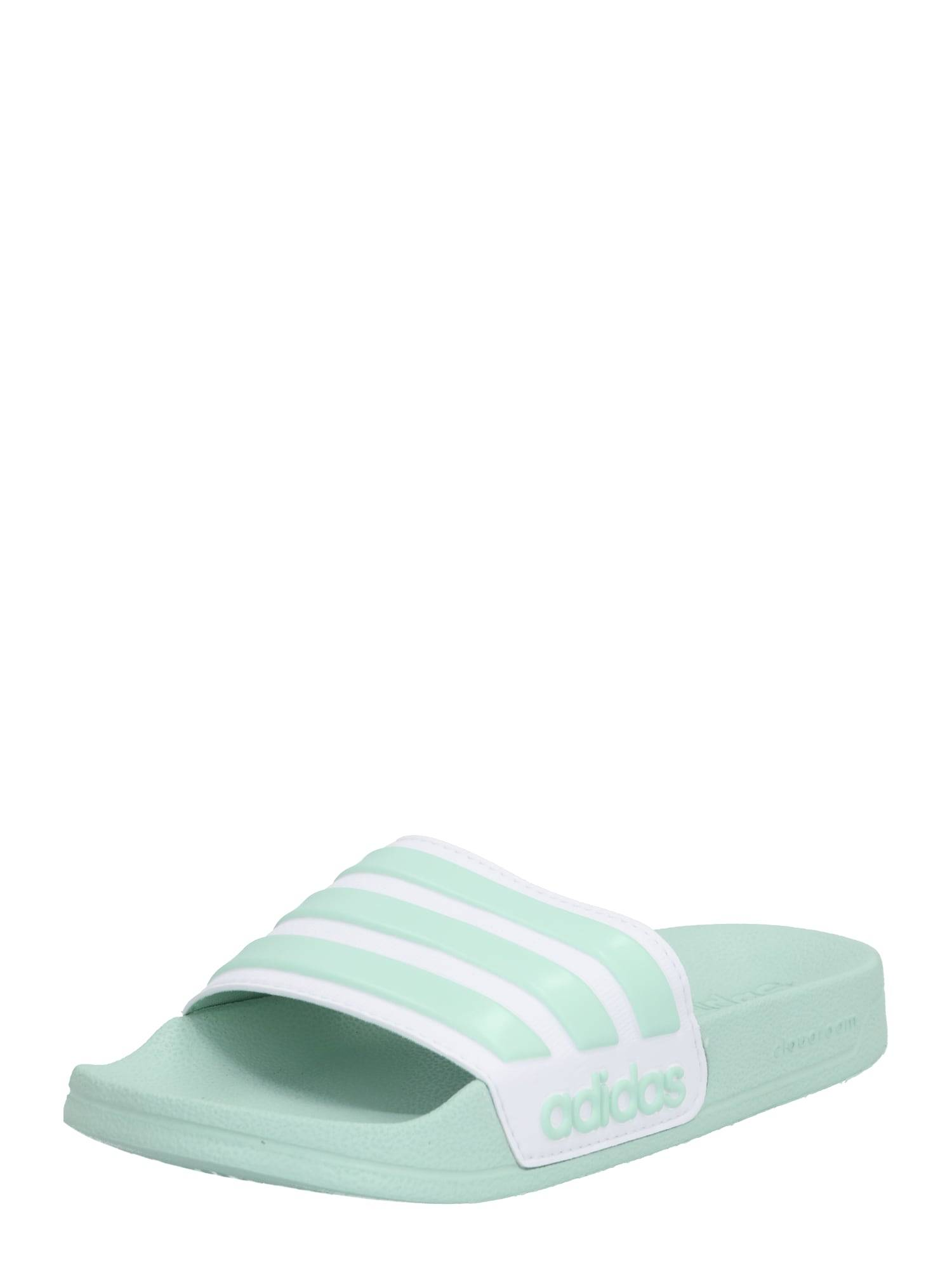 ADIDAS PERFORMANCE Claquettes / Tongs 'Adilette'  - Vert - Taille: 9 - female