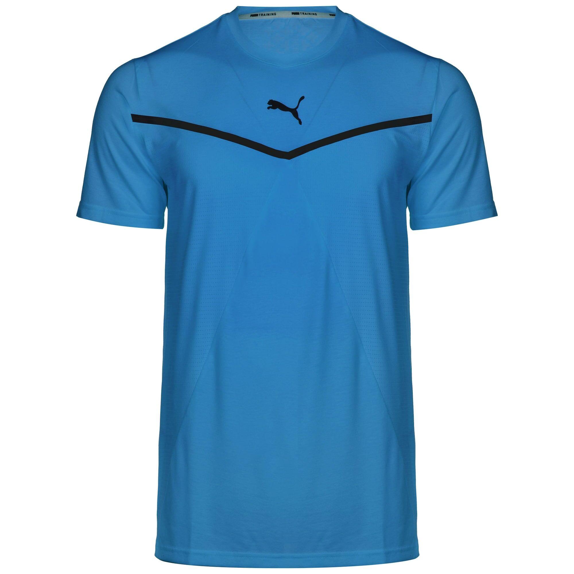 PUMA T-Shirt fonctionnel  - Bleu - Taille: S - male