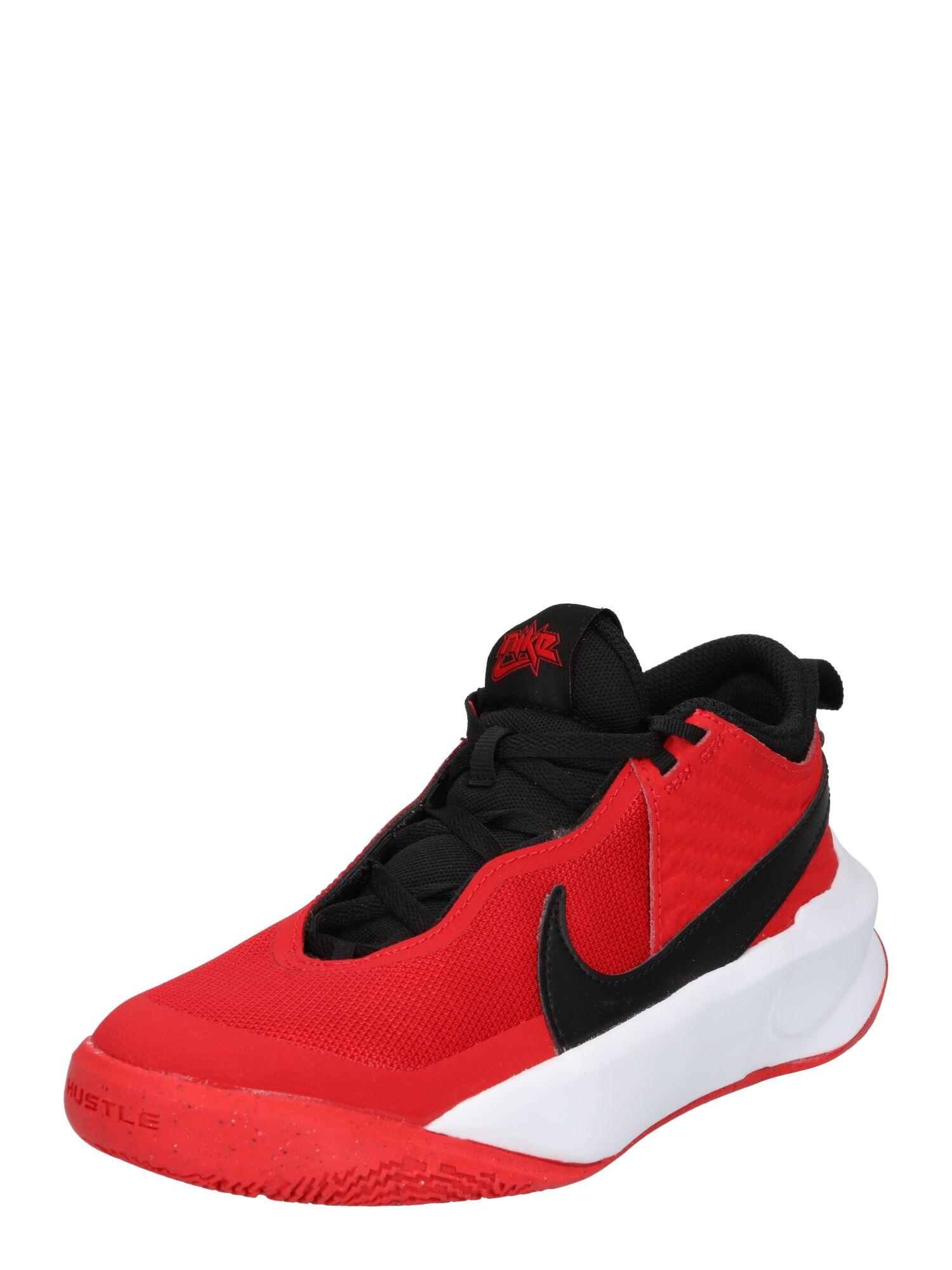 NIKE Chaussure de sport 'Team Hustle D 10'  - Rouge - Taille: 3.5Y - boy