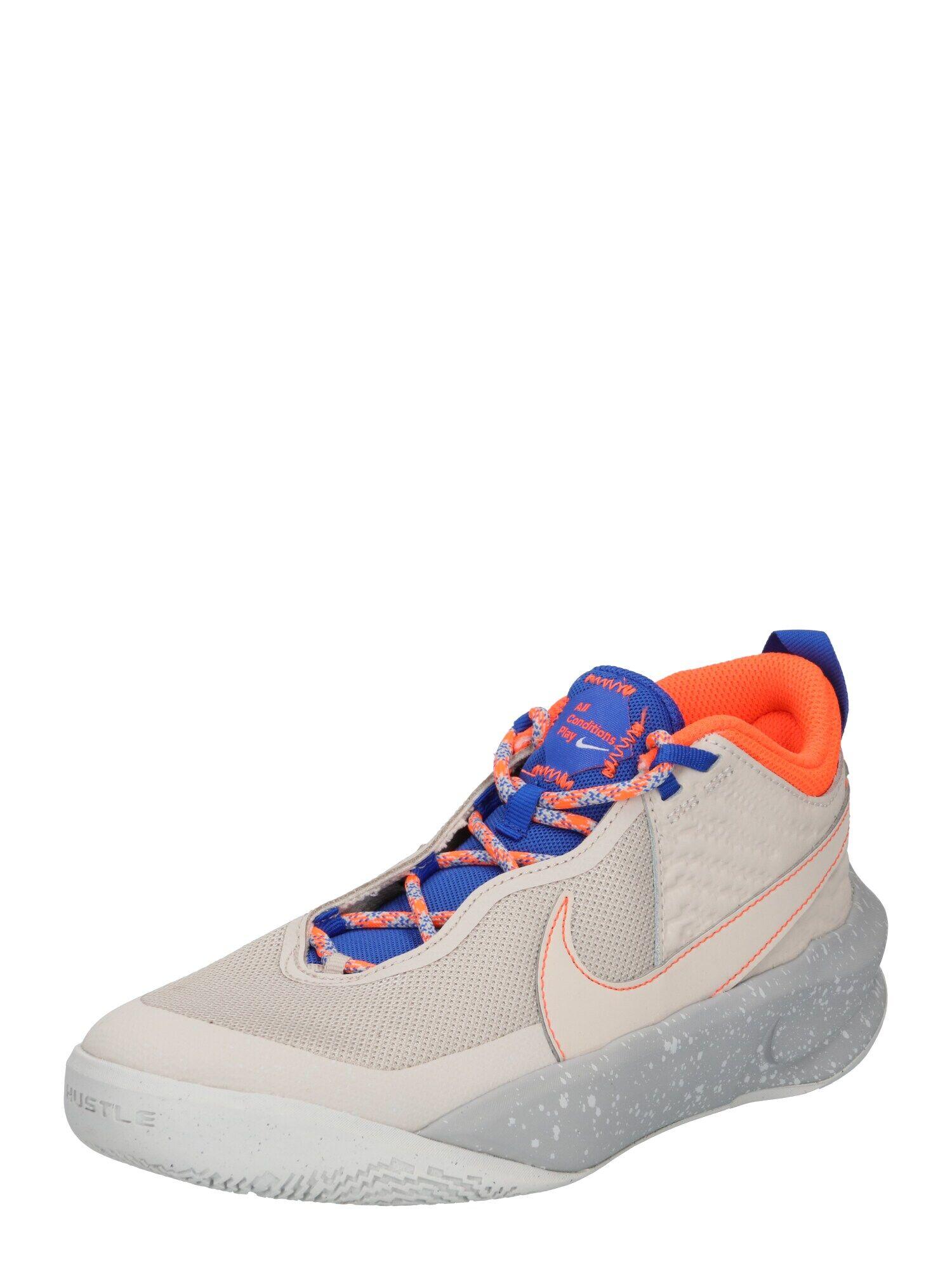 NIKE Chaussure de sport 'Team Hustle'  - Beige - Taille: 4.5Y - boy