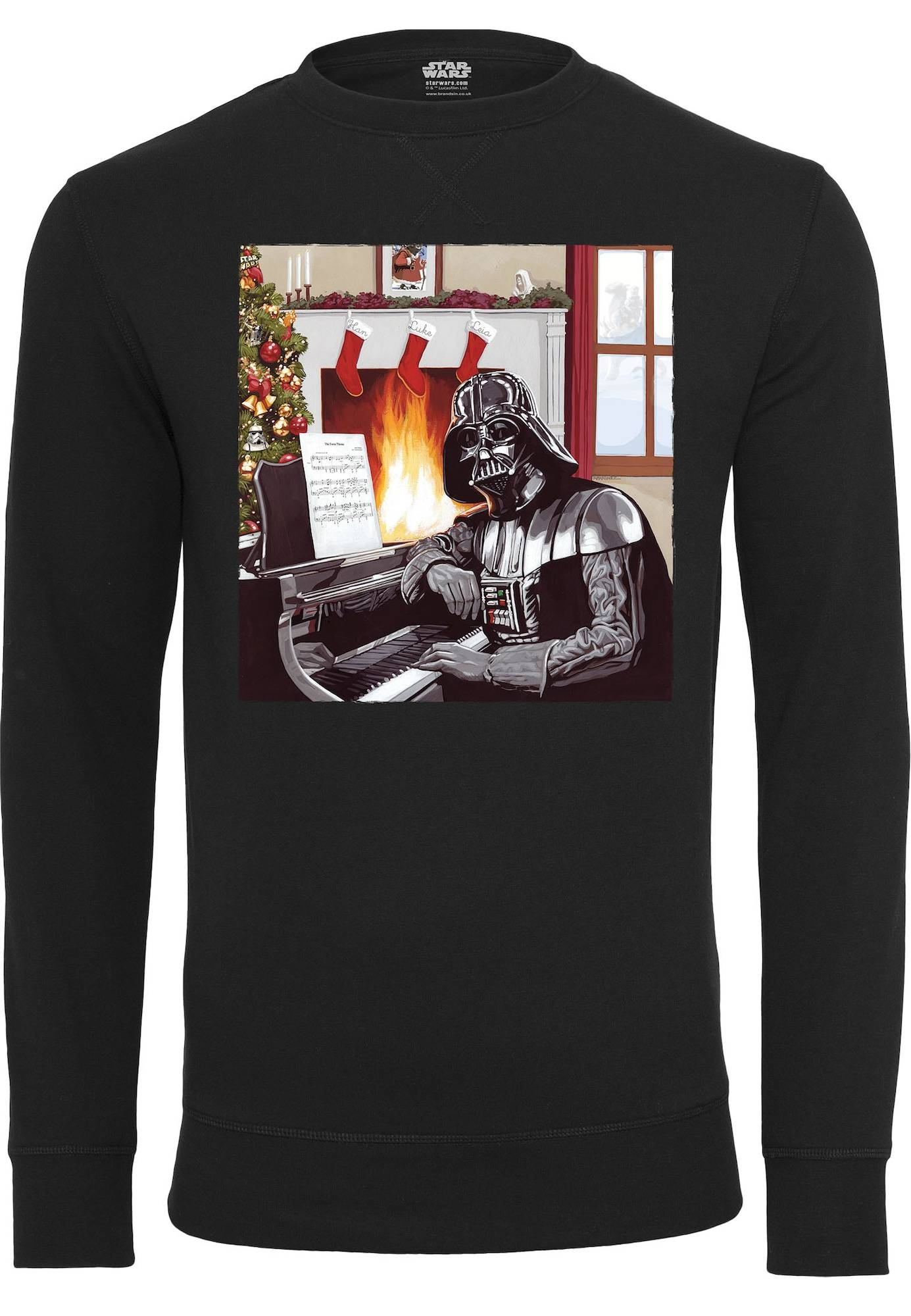 Tee Sweat-shirt 'Darth Vader Piano'  - Noir - Taille: S - male
