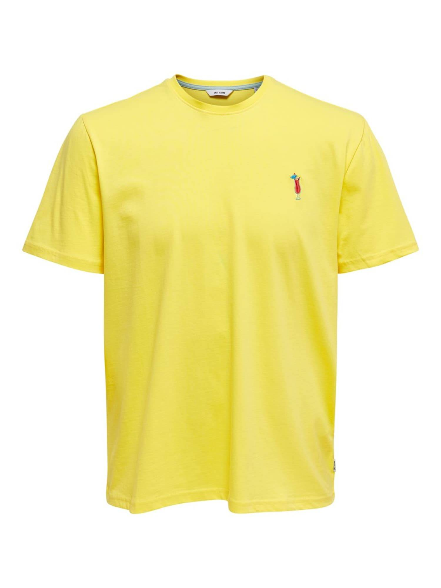 Only & Sons T-Shirt  - Jaune - Taille: XL - male