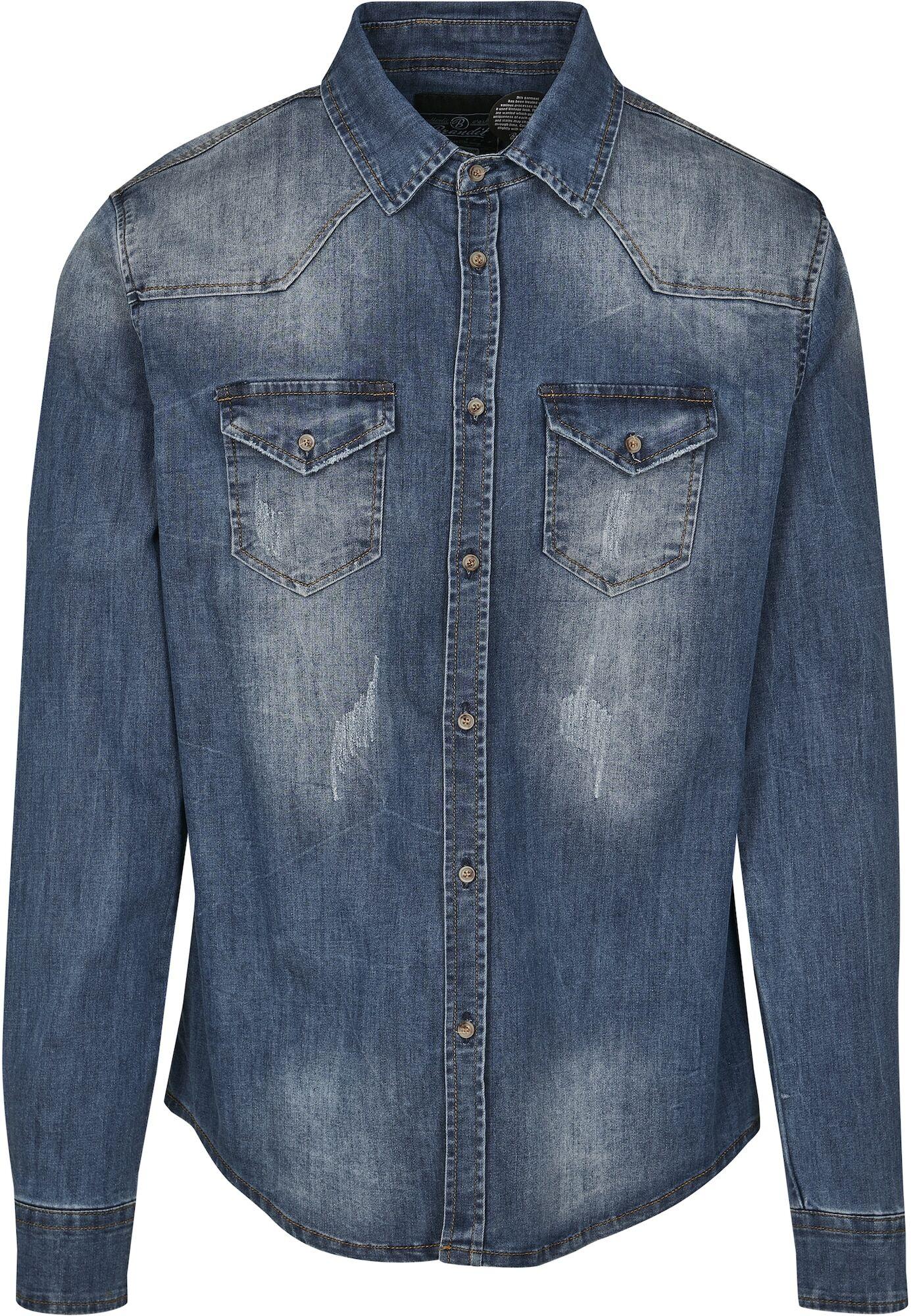 Brandit Chemise  - Bleu - Taille: 5XL - male