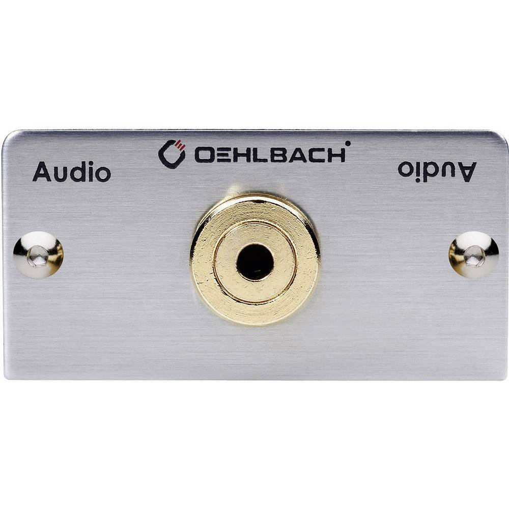 Oehlbach Dispositif multimédia Oehlbach PRO IN MMT-C AUDIO-35 0.27 m argent contacts dorés