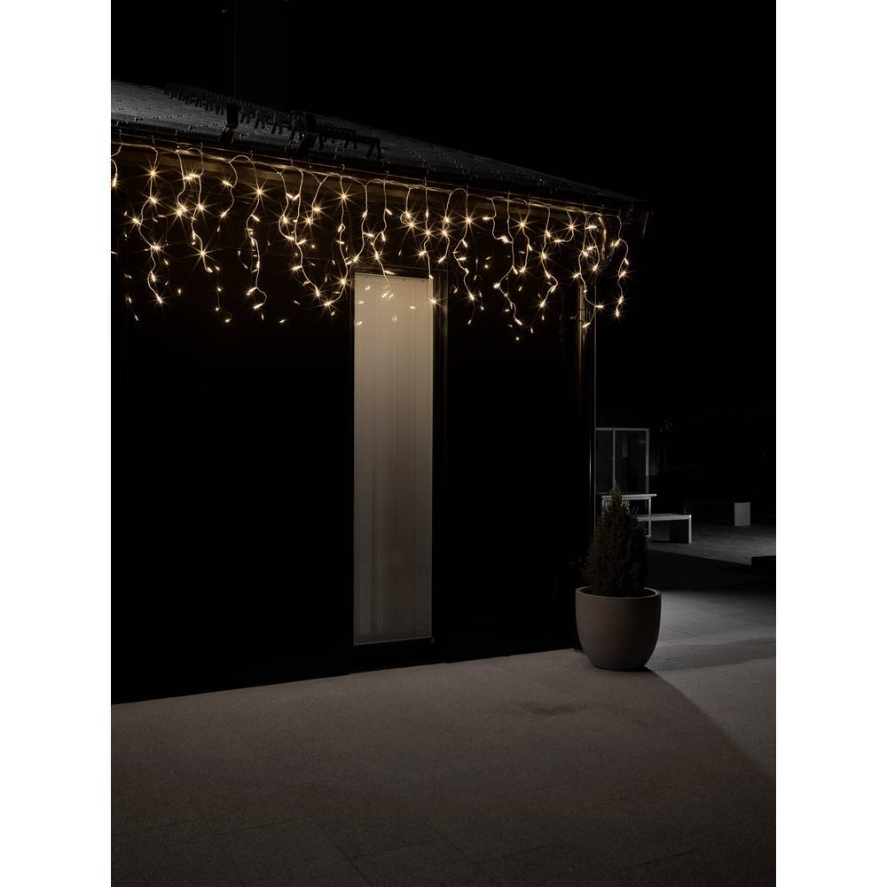 Konstsmide Guirlande lumineuse stalactites, effet chute de neige pour lextérieur 24 V 200 LED N/A