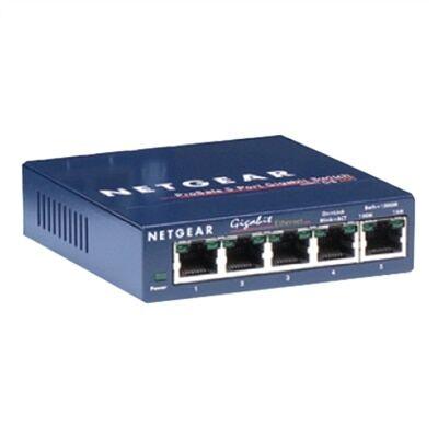 NETGEAR GS105 - Commutateur - 5 ports - EN, Fast EN, Gigabit EN - 10Base-T, 100Base-TX, 1000Base-T