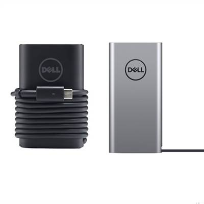 Dell Notebook Power Bank Plus - USB-C, 65 W/h - PW7018LC et adaptateur Type-C CA Dell E5 65 watts à 3 broches avec cordon d'alimentation de 3 pieds (E