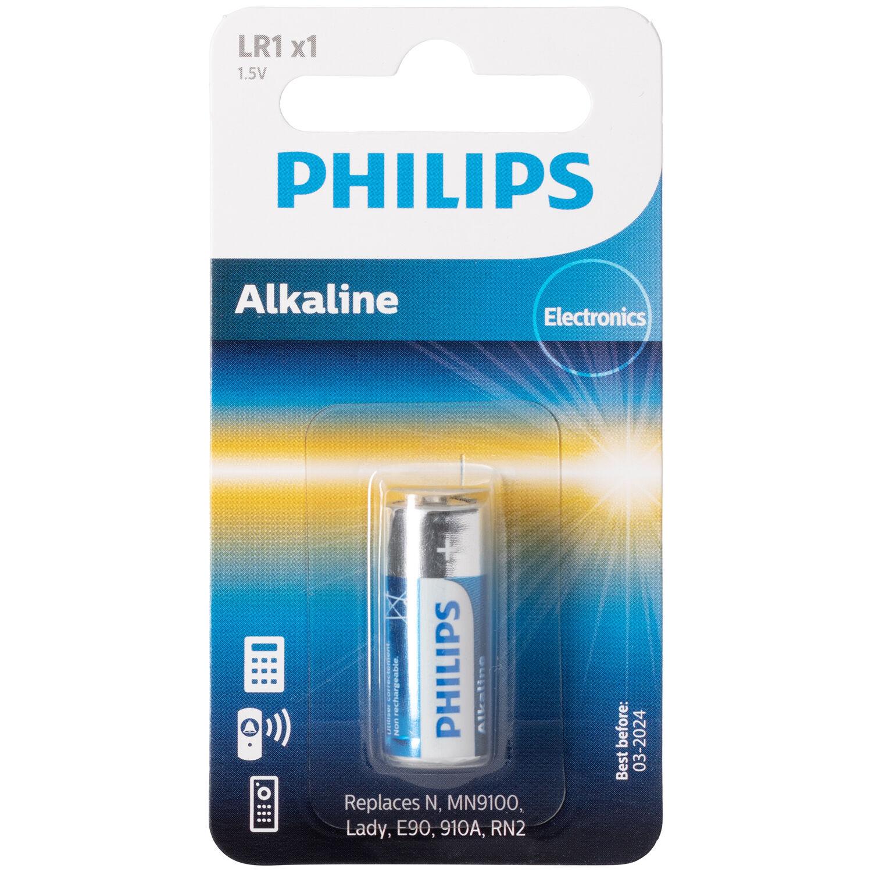 Mixed Philips Pile Alcaline LR1 1,5 V