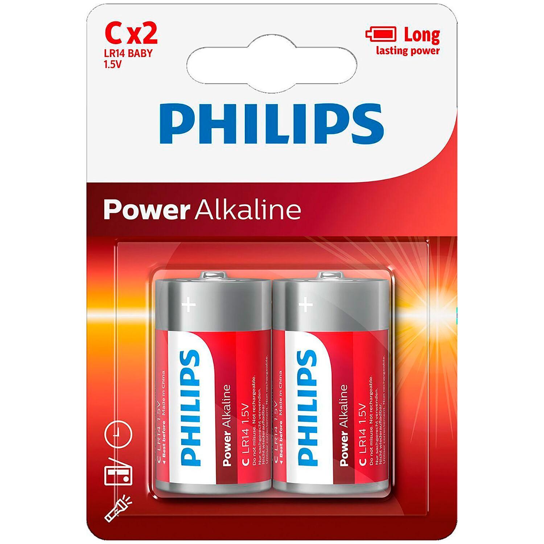 Mixed Philips LR14 C Piles Alcalines 2 pcs