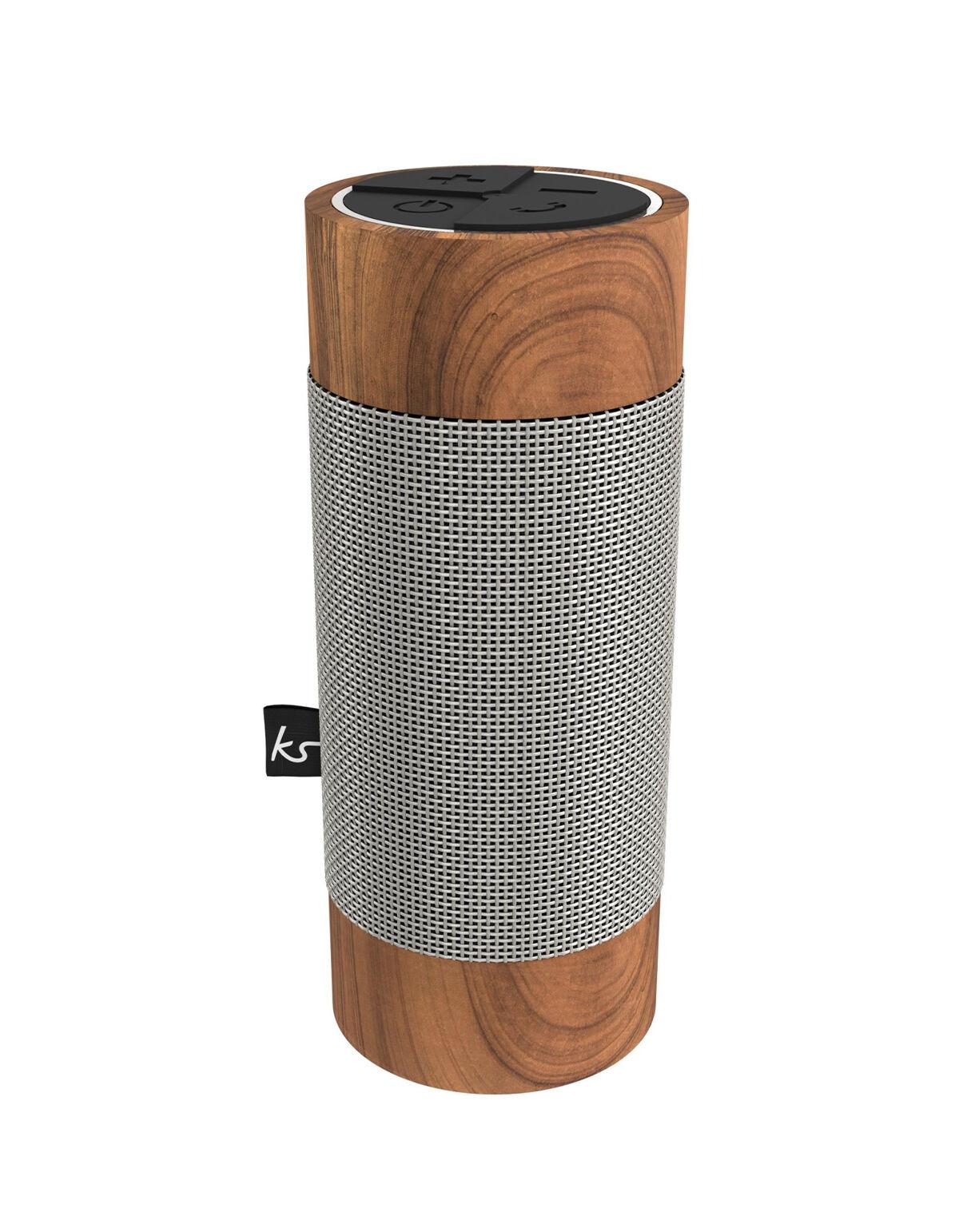 Kitsound Enceinte Bluetooth extérieure KitSound Diggit, Silver/Wood