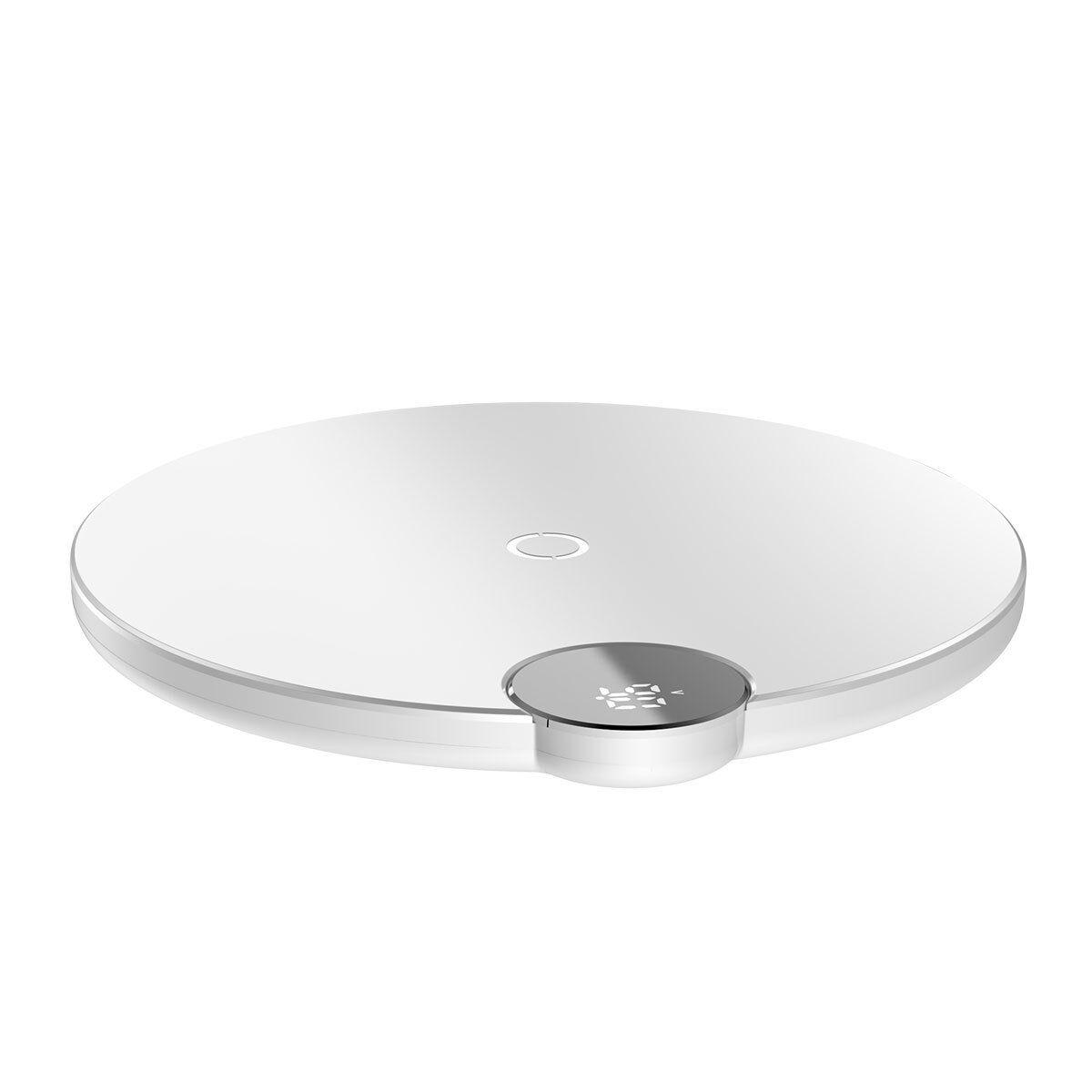 Baseus Chargeur sans fil Baseus avec affichage numérique à LED blanc