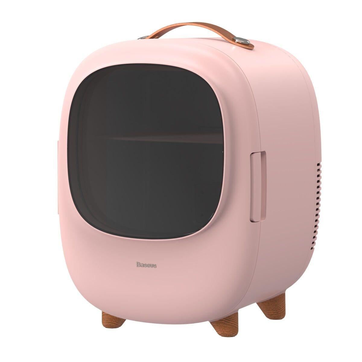 Baseus Réfrigérateur Baseus Zero Space pour le refroidissement et le chauffage, 220V + 12V, Rose
