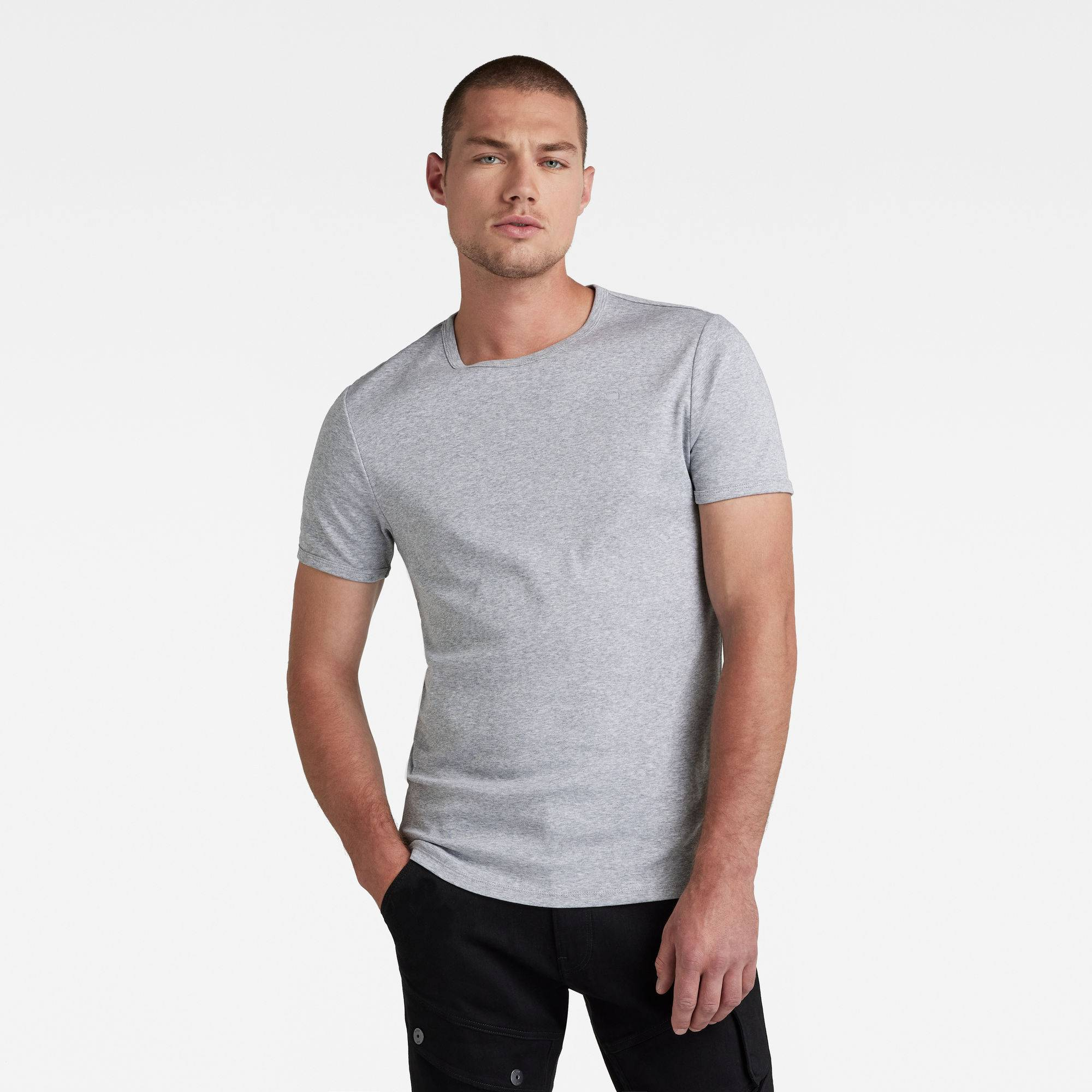 G-star RAW Hommes Lot de 2 t-shirts Base Gris  - Taille: XL XXS XXL XS S M L