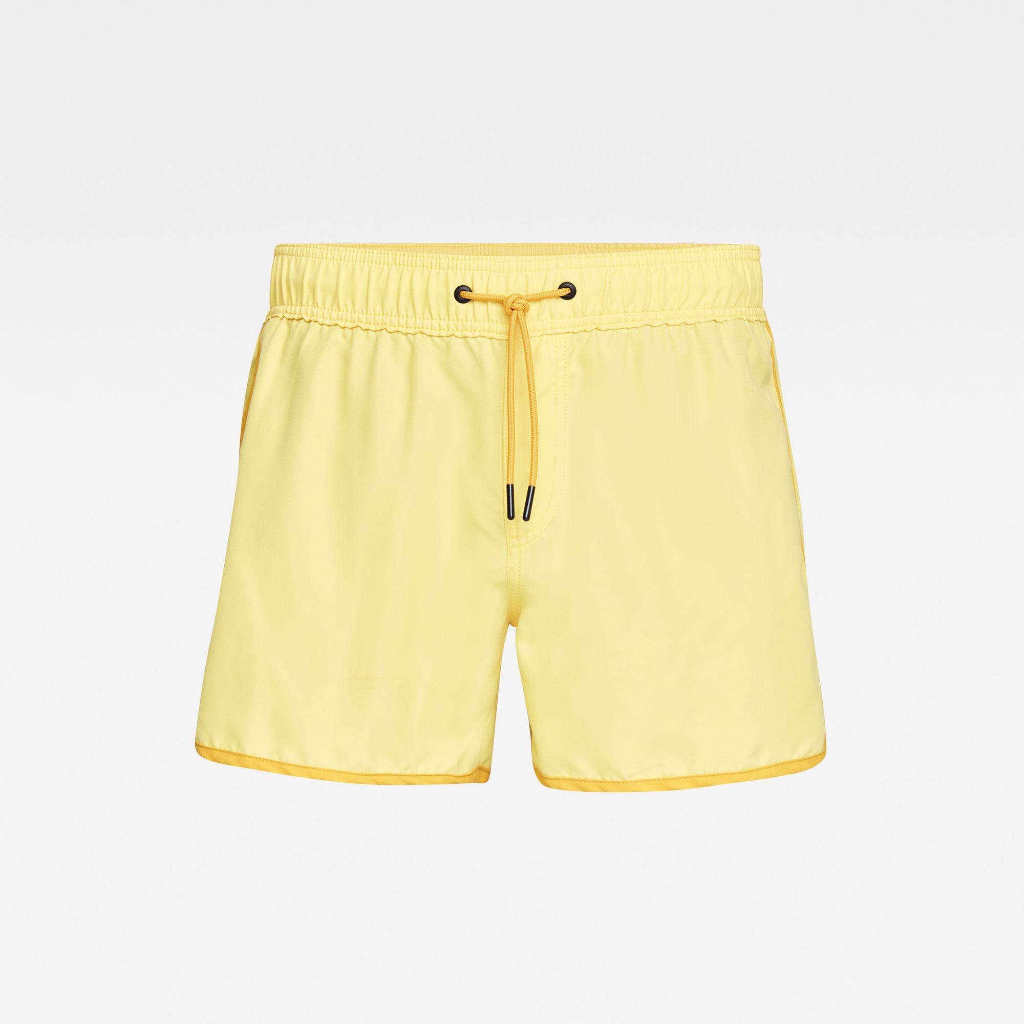 G-star RAW Hommes Short de bain Carnic Solid Jaune  - Taille: S M XS XL L XXL