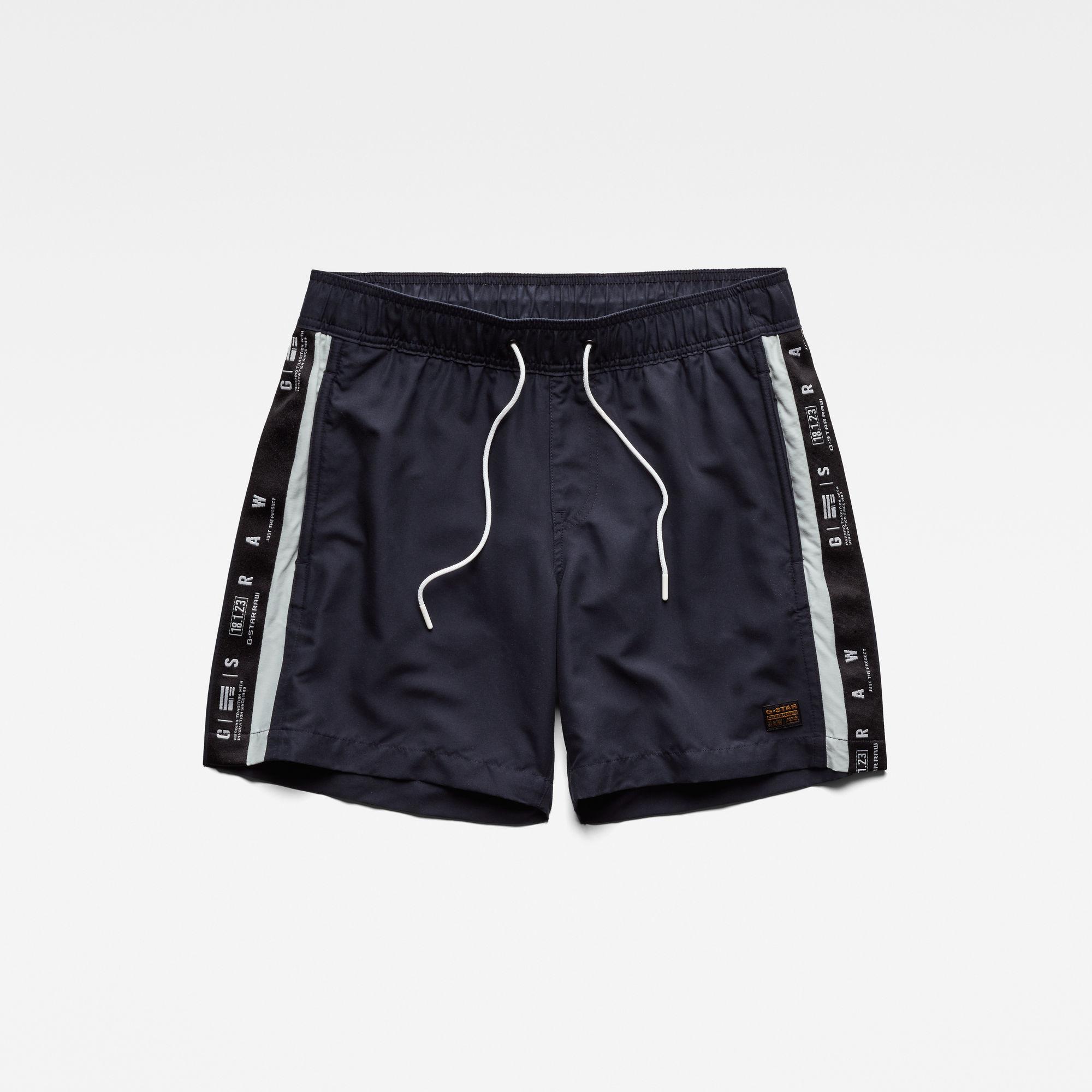 G-star RAW Hommes Short de bain Dirik Tape Bleu foncé  - Taille: M