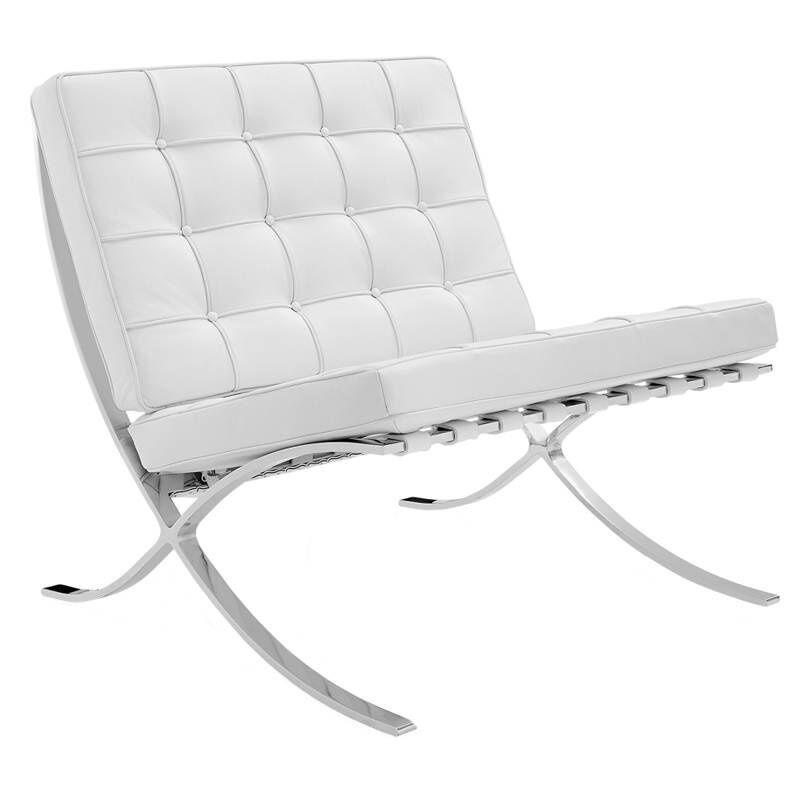 Dimehouse Expo Fauteuil Blanc Design - Cuir Premium
