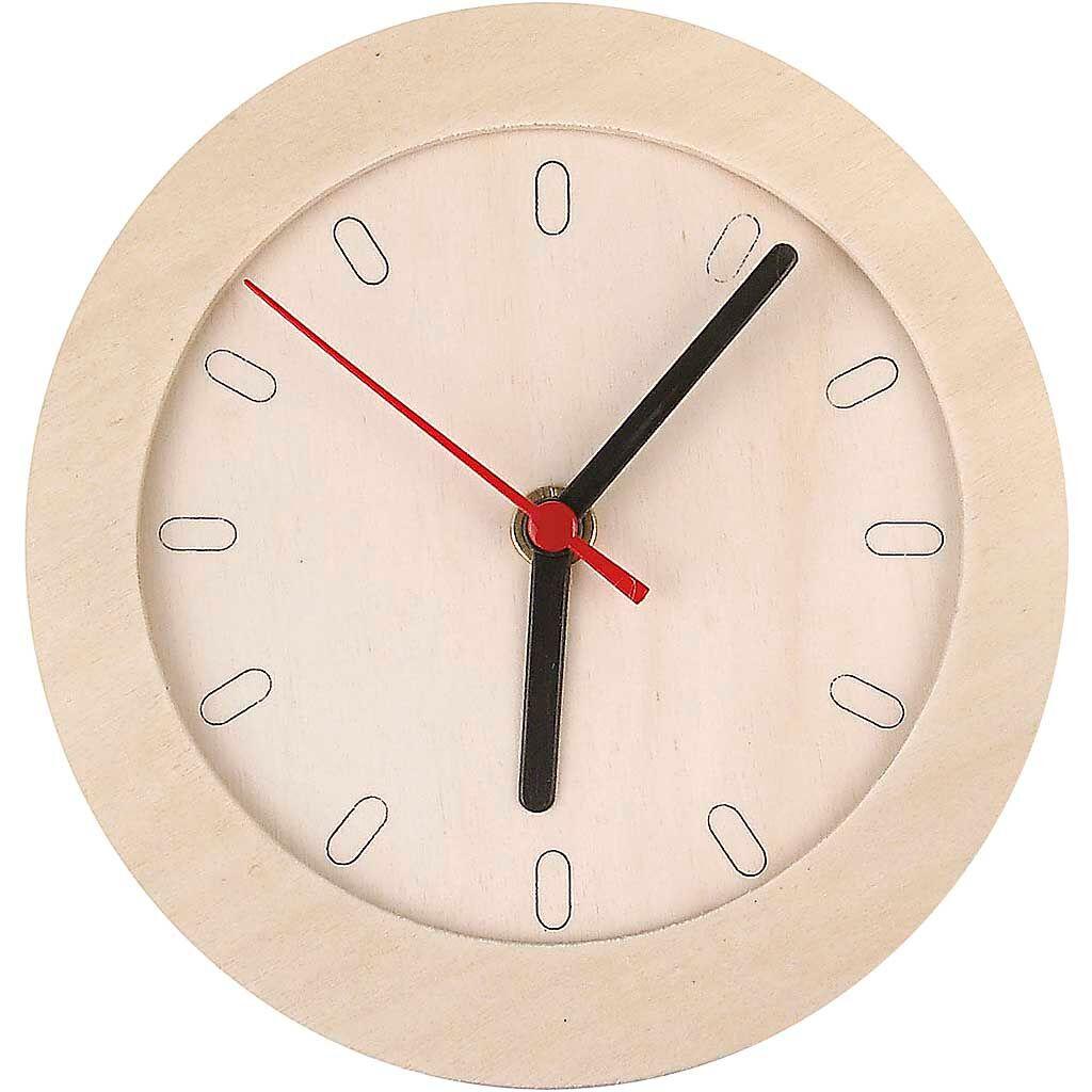 Creativ Company Horloge En Bois, 15 cm, Triplex, 1 Pièce