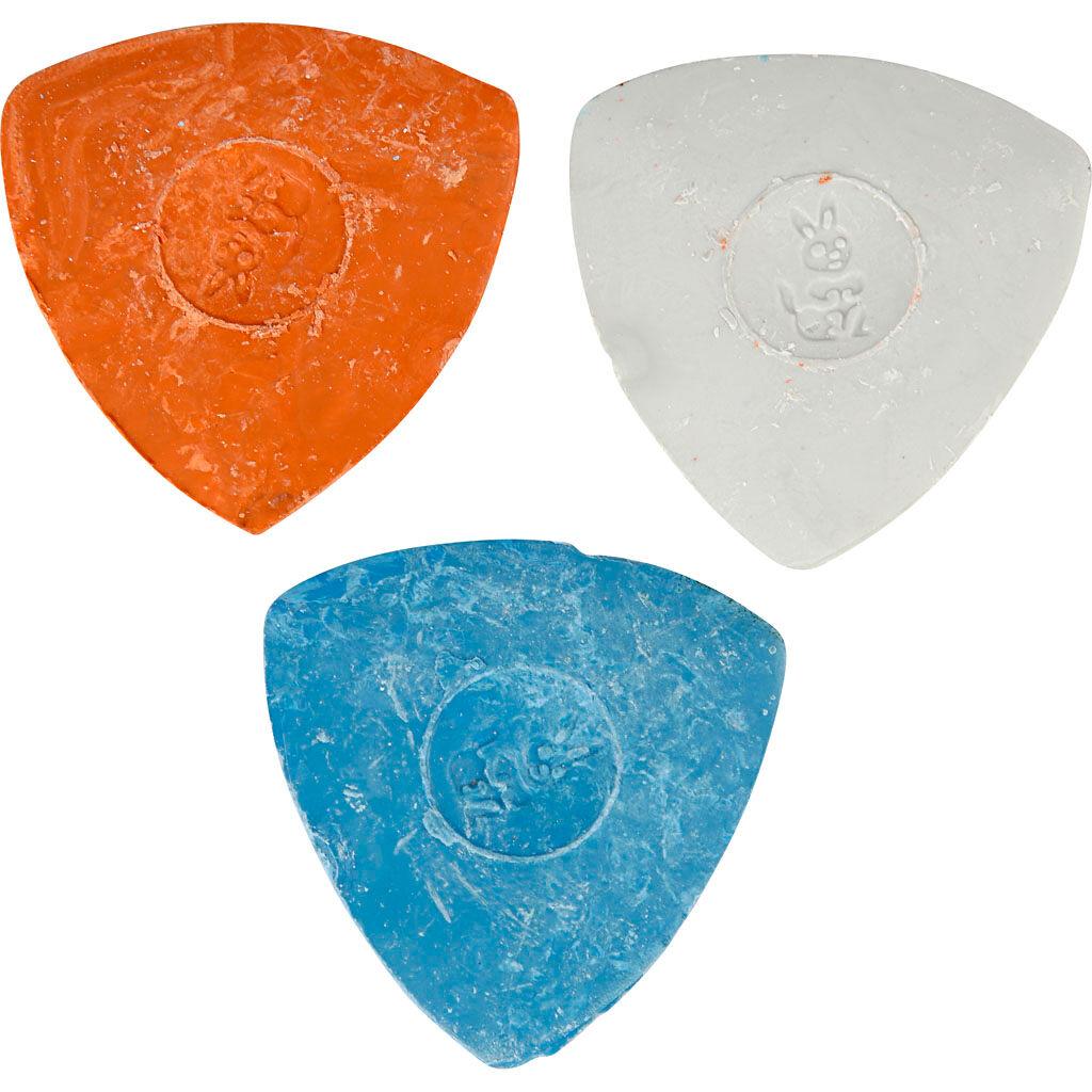 Creativ Company Craie De Tailleur, 5,5 cm, Bleu, Rouge, Blanc, 3 Pièce